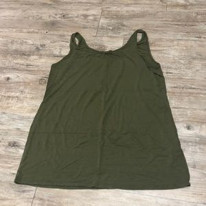 Army Green Loose Tank Top